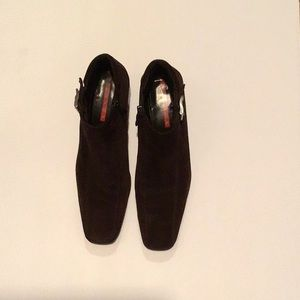 Prada brown suede boots size 39
